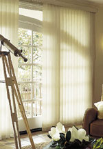 Boise Free Hanging Fabric Vertical Blinds Window